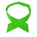 CO-39 | Solid Lime Green Crossover Tie for Women