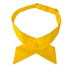 CO-48 | Solid Golden Yellow Crossover Tie for Women
