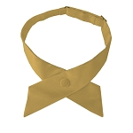 CO-75 | Solid Honey Gold Crossover Tie for Women