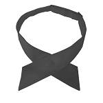 CO-90 | Solid Charcoal Gray Crossover Tie for Women