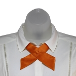 CO-03 | Solid Orange Crossover Tie for Women