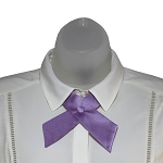 CO-28 | Solid Lavender Crossover Tie for Women