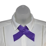CO-29 | Solid Purple Crossover Tie for Women