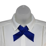 CO-36 | Solid Royal Blue Crossover Tie for Women