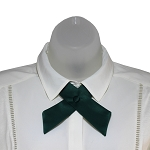 CO-37 | Solid Forest Green Crossover Tie for Women