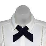 CO-53 | Solid Navy Blue Crossover Tie for Women