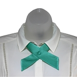 CO-74 | Solid Aqua Blue Crossover Tie for Women