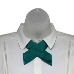CO-84 | Solid Teal Green Crossover Tie for Women