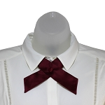 CO-93 | Solid Maroon Crossover Tie for Women