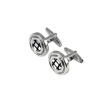 CK-04 | Standard Black and White Grid Premium Silver Cuff Links