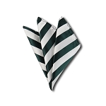 DHS-3720 | Forest Green and White College Stripe Handkerchief