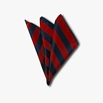 DHS-5301 | Navy and Red College Stripe Handkerchief