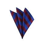 DHS-6236 | Royal Blue and Burgundy College Stripe Handkerchief