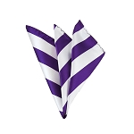 DHS-3120 | Purple and White College Stripe Handkerchief
