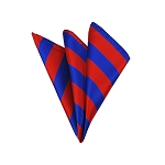 DHS-3601 | Royal Blue and Red College Stripe Handkerchief