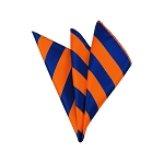 DHS-3603 | Royal Blue and Orange College Stripe Handkerchief
