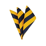 DHS-5348 | Navy and Gold College Stripe Handkerchief