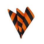 DHS-5803 | Black and Orange College Stripe Handkerchief
