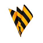 DHS-5848 | Black and Gold College Stripe Handkerchief