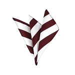 DHS-6220 | Burgundy and White College Stripe Handkerchief