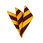 DHS-6248 | Burgundy and Golden Yellow College Stripe Handkerchief