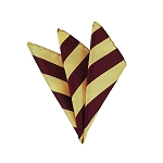 DHS-6275 | Burgundy and Honey Gold College Stripe Handkerchief