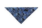 DH-01E | Steel Blue, Light Blue and Black Woven Paisley Handkerchief
