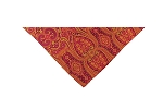 DH-09 | Wine, Red and Golden Yellow Woven Paisley Handkerchief