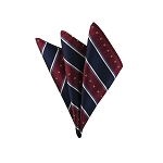 DH-105C | Stars & Stripes on Burgundy, White and Blue Men's Woven Handkerchief