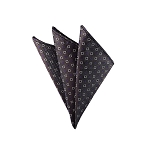 DH-120A | Purple and White Geometric Pixels on Light Brown Textured Men's Woven Handkerchief