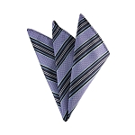 DH-129A | Lavender, Eggplant, and Steel Blue Weave Split Striped Men's Woven Handkerchief