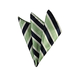 DH-130E | Light Green and Navy Blue Striped Men's Woven Handkerchief