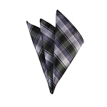 DH-133A | Multi-Shade Purple Plaid Men's Woven Handkerchief