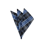 DH-133C | Multi-Shade Blue Plaid Men's Woven Handkerchief