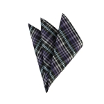 DH-134 | Multi-Shade Purple and Light Blue Striped Plaid Men's Woven Handkerchief
