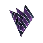 DH-146 | Violet and Navy Blue Striped Men's Woven Handkerchief