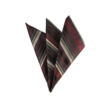DH-160 | Maroon, Copper and Beige Multi-Stripe Men's Woven Handkerchief