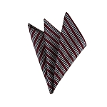 DH-163 | Black and White Repp Stripe on Burgundy Men's Woven Handkerchief