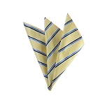 DH-172 | Black, Steel Blue on light Yellow Narrow Striped Men's Woven Handkerchief