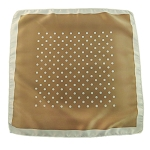 PH-06A | Beige Brown w. Latte Dotted Pattern Handkerchief
