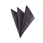 DH-179 | Peach And Blue Squares On Black Woven Handkerchief