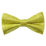 MTB-45 | Metallic Light Yellow Bow Tie