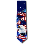 US-02 | Flags and Eagle Novelty Tie