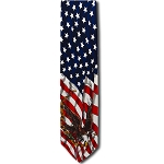 US-05 | Flags and Eagle - Victory Novelty Tie