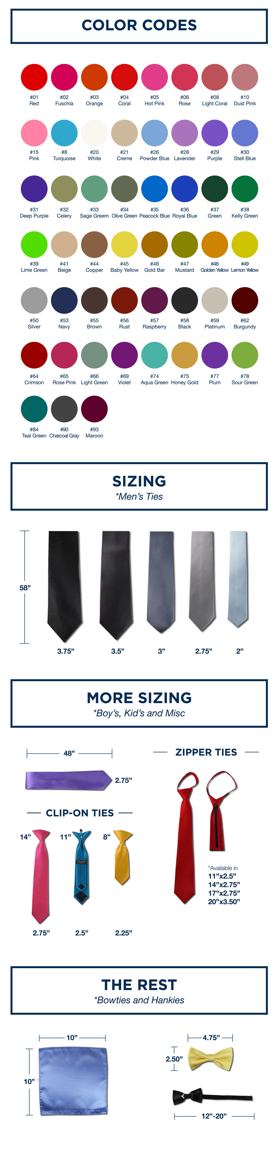 Sizing & Colors