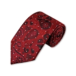 DT-01 | Red, Black and Crimson Woven Paisley Necktie