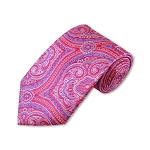 DT-08 | Pink, Fuchsia and Purple Woven Paisley Necktie