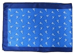 S-02B | Royal and Blue Aster Humming Bird Printed Unisex Scarves