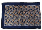 S-04B | Navy and Orange Paisley Unisex Scarves