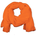 SS-03 | Women's Orange Chiffon Scarf